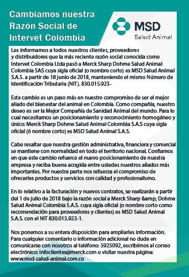 Cambiamos nuestra Razón Social de Intervet Colombia